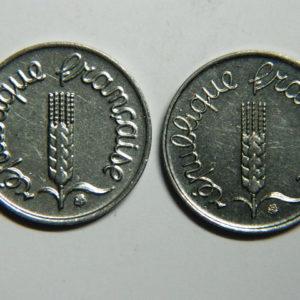 Lot de 2×1 Centime 5ème République 1967/1968 SUP  EB90353