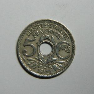 5 Centimes Lindauer petit module 1921 TTB  EB90360