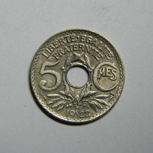 5 Centimes Lindauer petit module 1922 Poissy TTB  EB90361