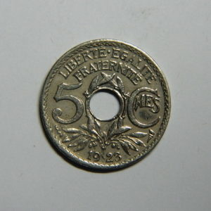 5 Centimes Lindauer petit module 1923 Poissy SUP  EB90362