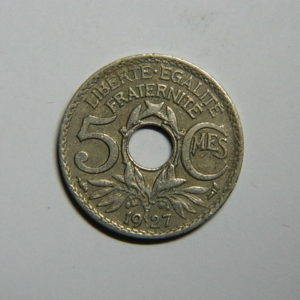 5 Centimes Lindauer petit module 1927 TTB  EB90367