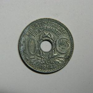 10 Centimes Lindauer 1941 sans point, souligné SUP  EB90515