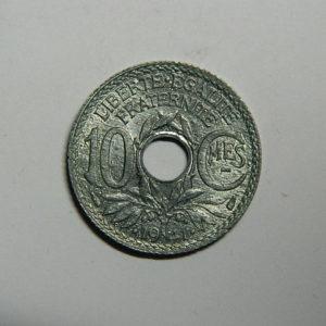 10 Centimes Lindauer Points et Cts soulignés 1941  SPL  EB90516