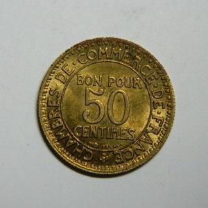 50 Centimes Chambre de commerce 1926 SPL  EB90519