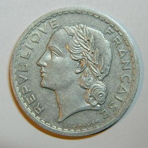 5 Francs Lavrillier 1945 SUP  EB90442