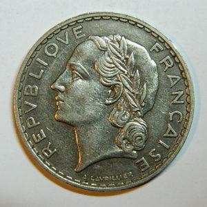 5 Francs Lavrillier 1933 SUP  EB90441