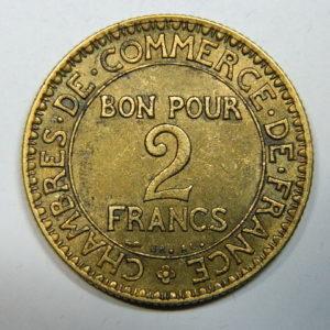 2 Francs Chambre de Commerce 1925 SUP+  EB90247
