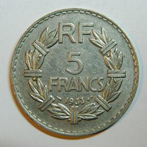5 Francs Lavrillier 1933 SUP EB90440