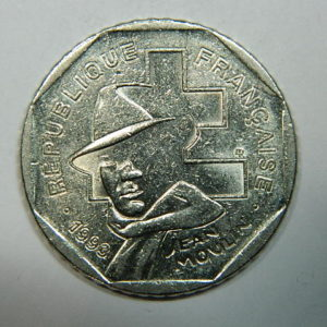 2 Francs Jean Moulin 1993 TTB  EB90256