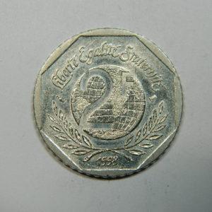 2 Francs René Cassin 1998 SPL  EB90260