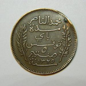 5 Centimes Moh.En-Naceur 1907A TUNISIE SUP  EB90407