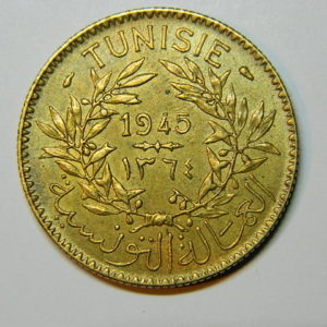 2 Francs (Bon Pour) 1945 SUP TUNISIE  EB90411