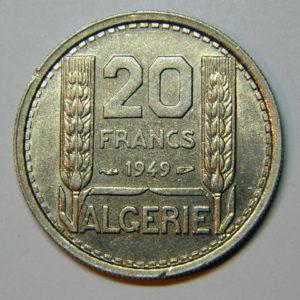 20 Francs ALGERIE 1949 FDC EB90415