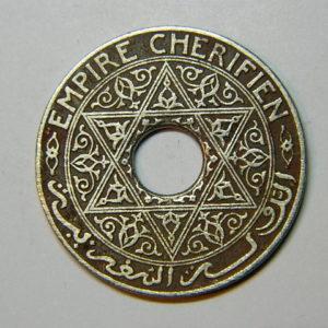 25 Centimes 1339-1920 TTB+ Moulay Yussef MAROC EB90428
