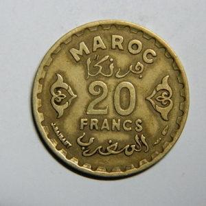 20 Francs 1371-1951 TTB Mohamed V MAROC EB90457