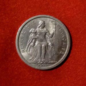 1 Franc Océanie Polynésie Française 1965 SUP SI90164