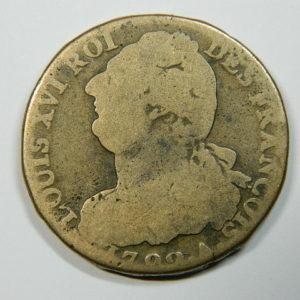 2 SOLS Louis XVI 1792A TB- EB90137