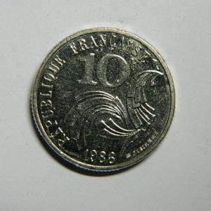 10 Francs Jimenez 1986 Finistère touchant le listel SUP RARE EB90376