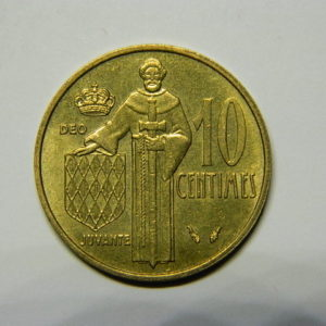 10 Centimes Rainier III 1975 SUP Monaco EB90475