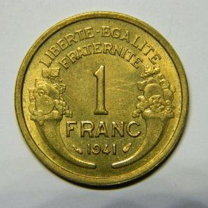 1 Franc Morlon 1941 SUP EB90477