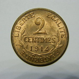 2 Centimes Daniel Dupuis 1914 SUP EB90478