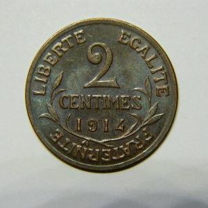 2 Centimes Daniel Dupuis 1914 SUP+ EB90479