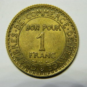 1 Franc Chambre de commerce 1921 SUP EB90481