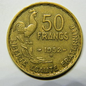 50 Francs Guiraud 1952B TTB EB90482