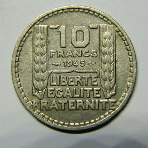 10 Francs Turin 1945 Rameaux Longs TTB+  EB90484