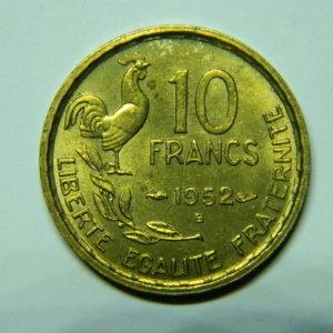 10 Francs Guiraud 1952B SPL EB90488
