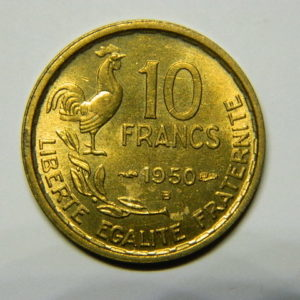 10 Francs Guiraud 1950B SPL- EB90489