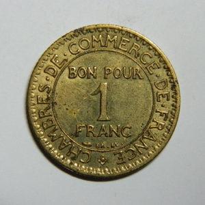 1 Franc Chambre de commerce 1927 SUP EB90400