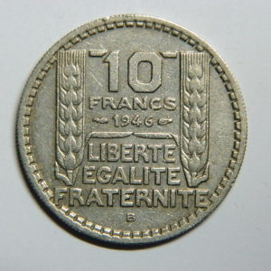 10 Francs Turin 1946B Grosse Tête Rameaux Courts TTB   EB90391