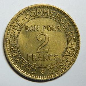 2 Francs Chambre de Commerce 1921 SPL EB90377