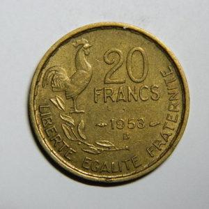 20 Francs Guiraud 1953B SUP- EB90303
