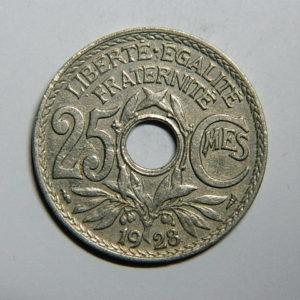 25 Centimes Lindauer 1928 TB EB90290