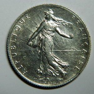 2 Francs Semeuse 1919 SPL- Argent 835°/°° EB90300
