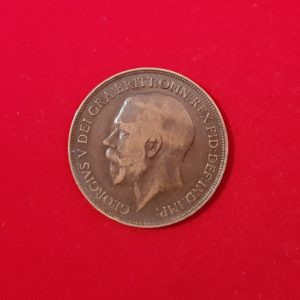1 Penny Georges V 1919 TB+ Angleterre SI90034A
