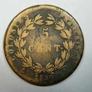 5 Centimes CHARLES X pour la Guyane 1830 TB+ EB90144