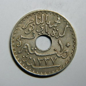 10 Centimes 1919 SUP TUNISIE Colonie Fr EB90284