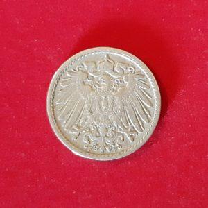 5 Pfenning  Deutsches Reich 1904F TB+ SI90275