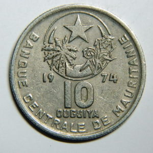 10 Ouguiya 1974 Mauritanie TTB EB90283