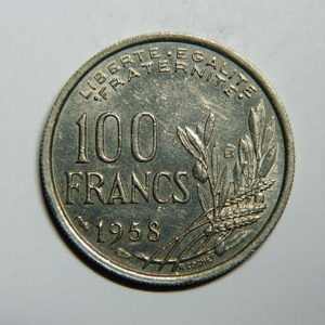 100 Francs Cochet 1958B SUP+  EB90294