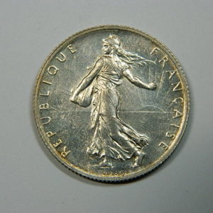 2 Francs Semeuse 1902 SUP+ Argent 835°/°° RARE EB90202