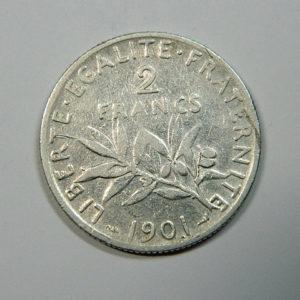 2 Francs Semeuse 1902 TB+ Argent 835°/°° EB90194