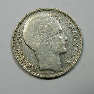 10 Francs Turin 1930 TTB- Argent 680°/°°  SI90058A