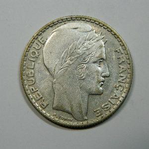 10 Francs Turin 1932 TTB Argent 680°/°°  EB90182