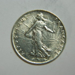 50 Centimes Semeuse 1920 SUP- Argent 835°/°° EB90337