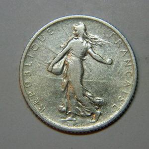 1 Franc Semeuse 1907 TB Argent   835°/°° EB90224