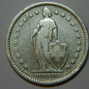 2 Francs Suisse 1886B TTB Argent 835 °/°°  EB90216